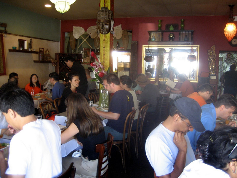 Burma Superstar...  a FANTASTIC Burmese restaurant...  it was like 2pm and packed!