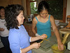 K and Helen preparing Thai chicken skewers!  You could tell which ones I made because mine were damn heavy and meaty.