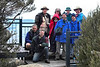 John, Anthony, Dennis, Cynleen, Rachel, Dale, Andrew, David, Peter, at the Dickson's Falls lookout.