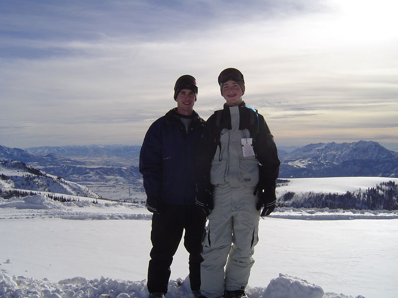 Snowboarding at Powder Mountain with my Brother-in-law Chad, and his little brother, Colton