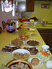 The food for the Rose Bowl party - 1/4/06