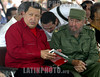 Cuba - La Habana : Fortaleza de San Carlos de la<br /> Cabana. Los presidentes de Cuba y Venezuela , Fidel Castro Ruz y Hugo Chavez Frias, firmaron hoy un convenio mediante el cual se crea el Fondo Cultural para la Alternativa Bolivariana para las Americas (ALBA). La rubrica del documento transcurrio en la ceremonia inaugural de la XV Feria Internacional del Libro . / Hugo Chavez and Fidel Castro during the book exhibition in Habana. presidents. / Kuba. Die Präsidenten Hugo Chavez und Fidel Castro während der XV Buchmesse in Havanna. © Ismael Francisco Gonzalez/AIN/LATINPHOTO.org