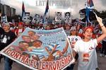 Venezuela - Caracas (06.01.24) Plaza Las Tres Gracias. Con una colorida marcha de 100 mil personas , se inauguro el VI Foro Social Mundial. Prioridades para la delegacion cubana sera continu ...