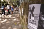 Venezuela : Carteles alusicos al VI Forum Social Mundial a celebrarce en Caracas del 24 al 29 de enero 21de enero de 2006 . / World Social Forum Posters on Caracas streets, January 21, 2006. ...
