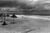 Uruguay : Playa La Aguada, 14 de abril de 2006 . / La Aguada beach. / Strand bei La Aguada. (B/W) © Rodrigo Hill/LATINPHOTO.org