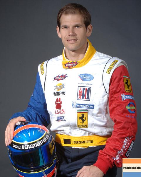 2007 American Lemans Series driver's portraits. Tim Bergmeister