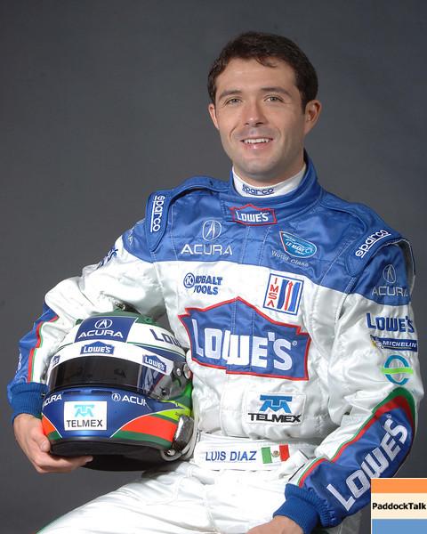 2007 American Lemans Series driver's portraits. Luis Diaz