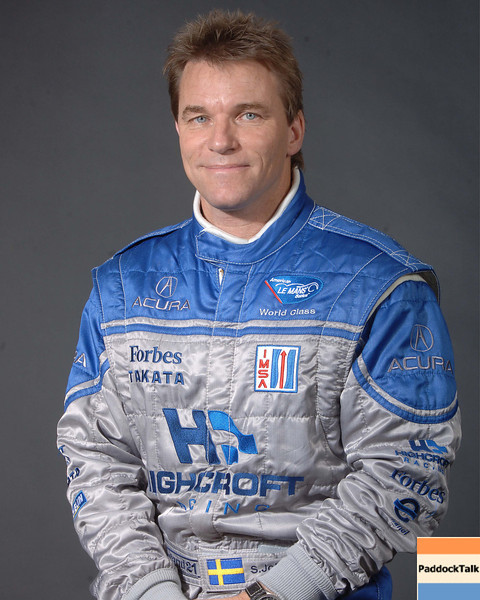 2007 American Lemans Series driver's portraits. Stefan Johansson