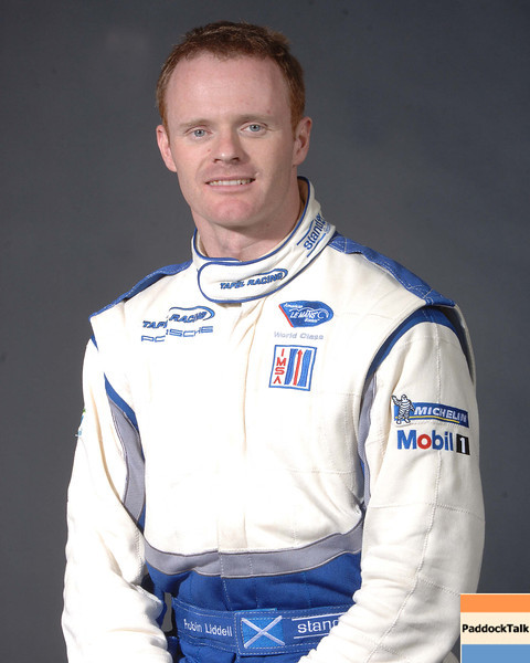 2007 American Lemans Series driver's portraits. Robin Liddell