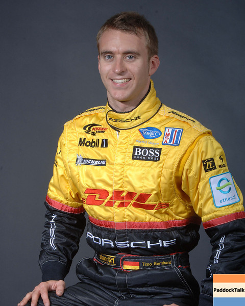 2007 American Lemans Series driver's portraits. Timo Bernhard