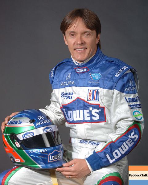 2007 American Lemans Series driver's portraits. Adrian Fernandez