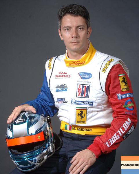 2007 American Lemans Series driver's portraits. Maurizio Mediani