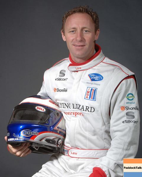 2007 American Lemans Series driver's portraits. Darren Law