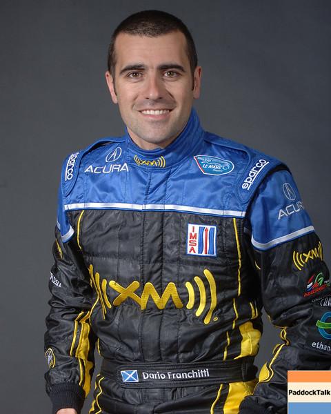 2007 American Lemans Series driver's portraits. Dario Franchitti