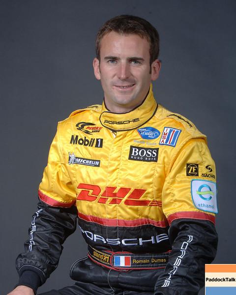 2007 American Lemans Series driver's portraits. Romain Dumas