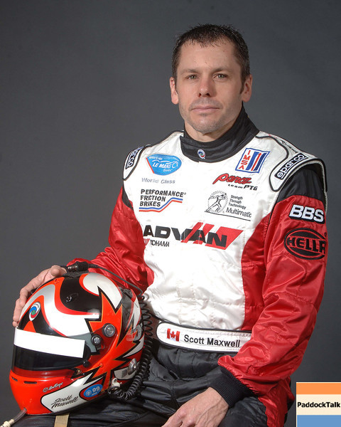 2007 American Lemans Series driver's portraits. Scott Maxwell