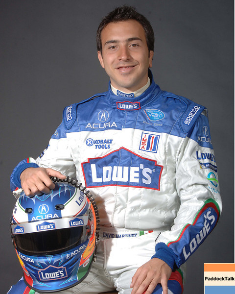 2007 American Lemans Series driver's portraits. David Martinez