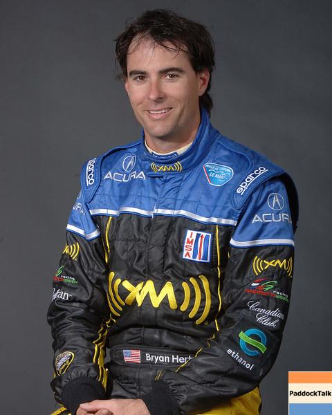 2007 American Lemans Series driver's portraits. Byran Herta