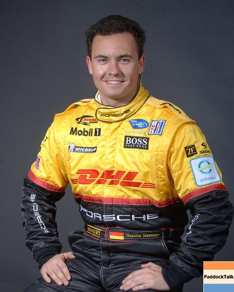2007 American Lemans Series driver's portraits. Sascha Maassan