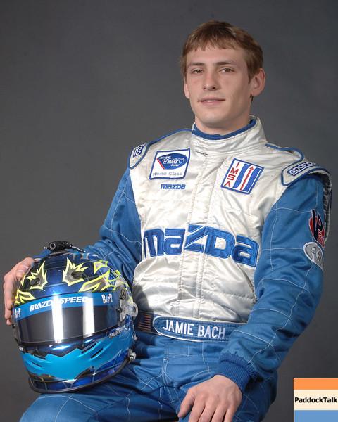 2007 American Lemans Series driver's portraits. Jamie Bach