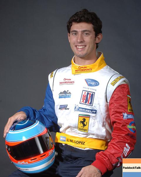 2007 American Lemans Series driver's portraits. J.M.  Lopez