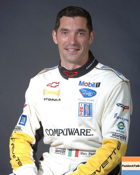 2007 American Lemans Series driver's portraits. Max Papis