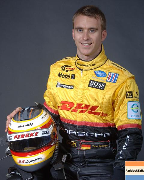 2007 American Lemans Series driver's portraits. Timo Bernhard