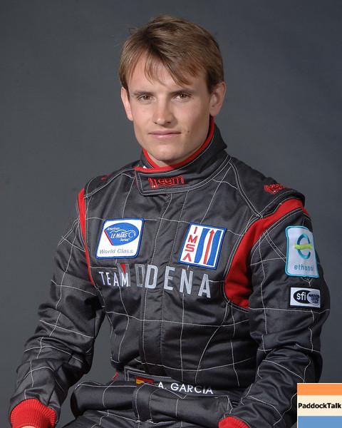2007 American Lemans Series driver's portraits. Antonio Garcia