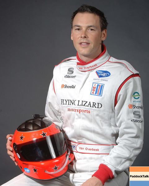 2007 American Lemans Series driver's portraits. Johannes Van Overbeek