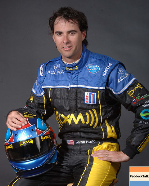 2007 American Lemans Series driver's portraits. Brian Herta