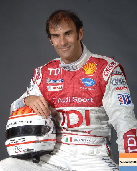 2007 American Lemans Series driver's portraits. Emanuele Pirro