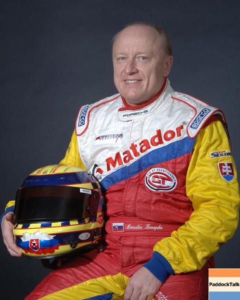 2007 American Lemans Series driver's portraits. Miroslav Konopka