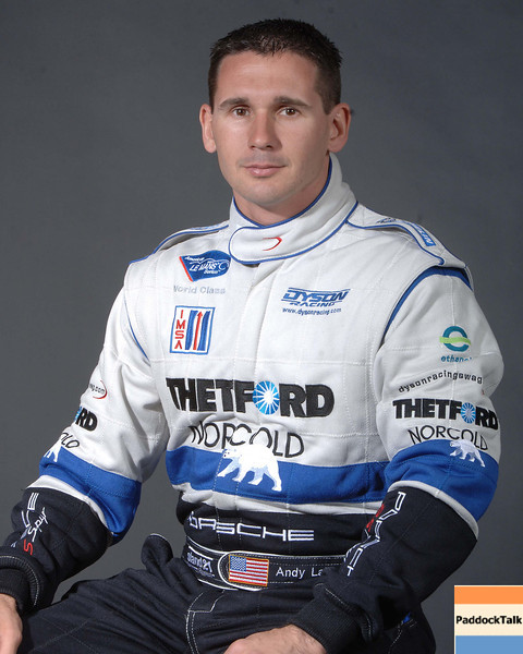 2007 American Lemans Series driver's portraits. Andy Lally