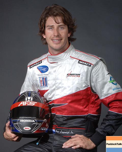 2007 American Lemans Series driver's portraits. Arie Luyendyk Jr.