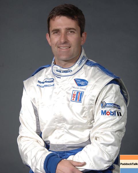 2007 American Lemans Series driver's portraits. Ian James