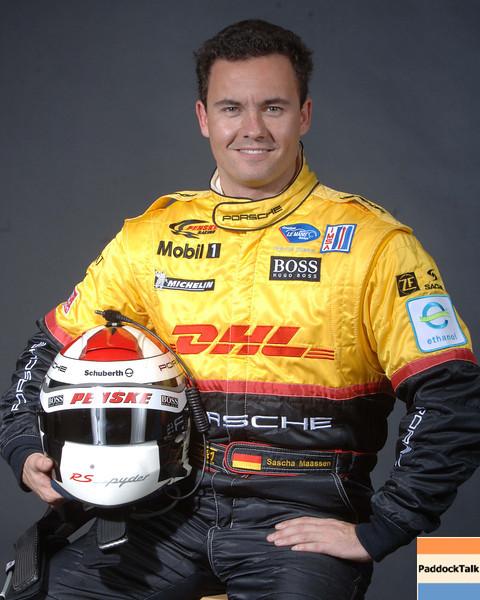2007 American Lemans Series driver's portraits. Sascha Maassen