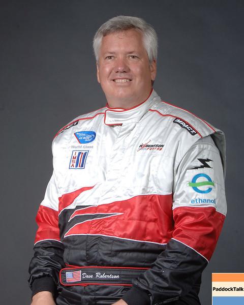 2007 American Lemans Series driver's portraits. Dave Robertson