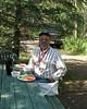 Rich at dinner at the Wild Animal Farm in Dawson Creek0001
