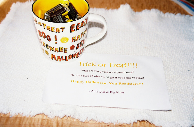 Halloween 2007. Treats from Aunt Mar.