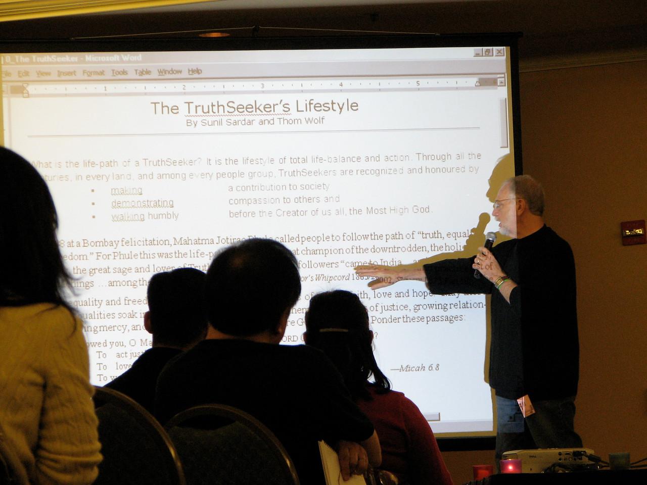 2007 02 17 Sat - Dr  Thom Wolf speaking 3