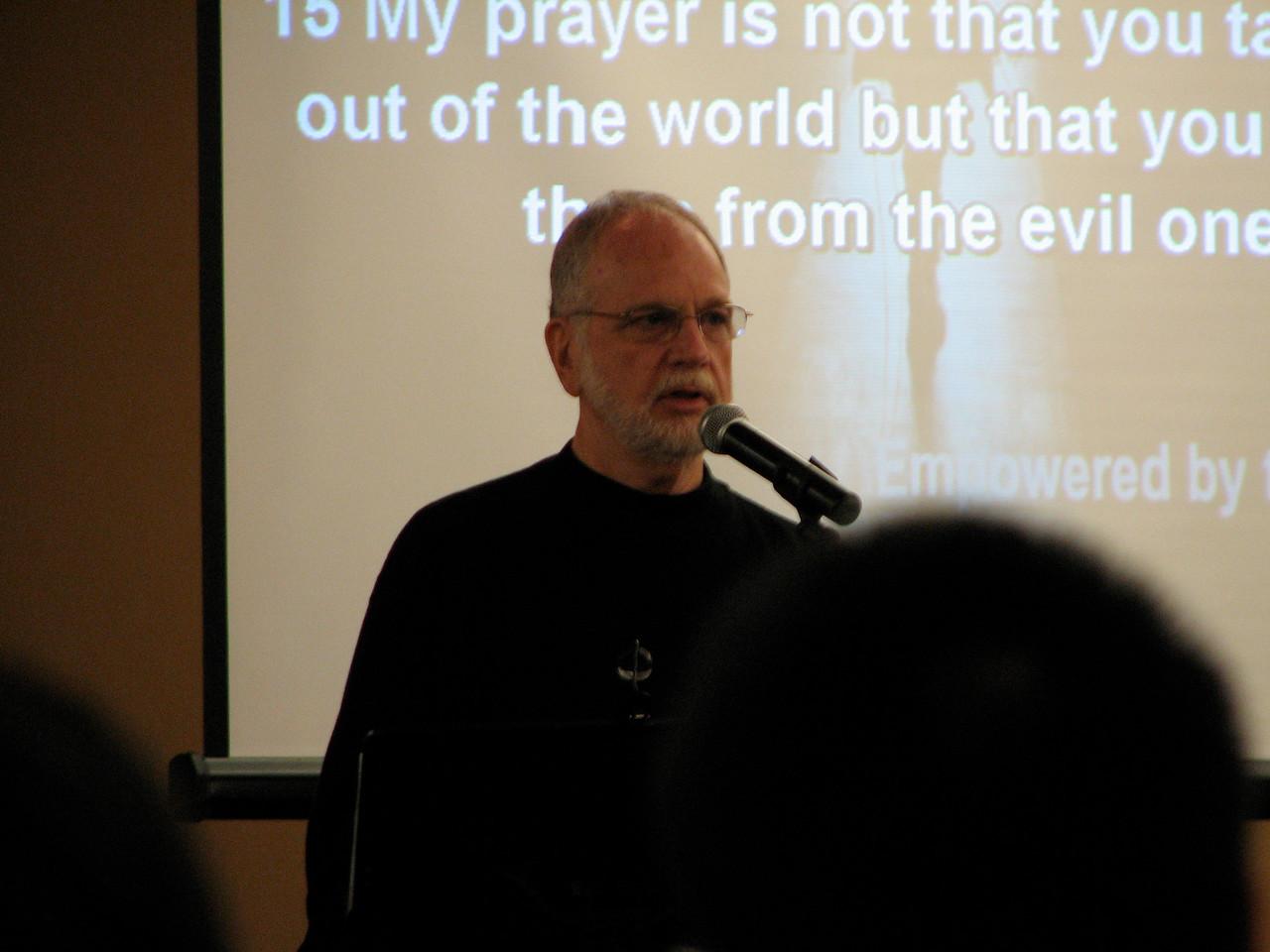 2007 02 17 Sat - Dr  Thom Wolf speaking 1