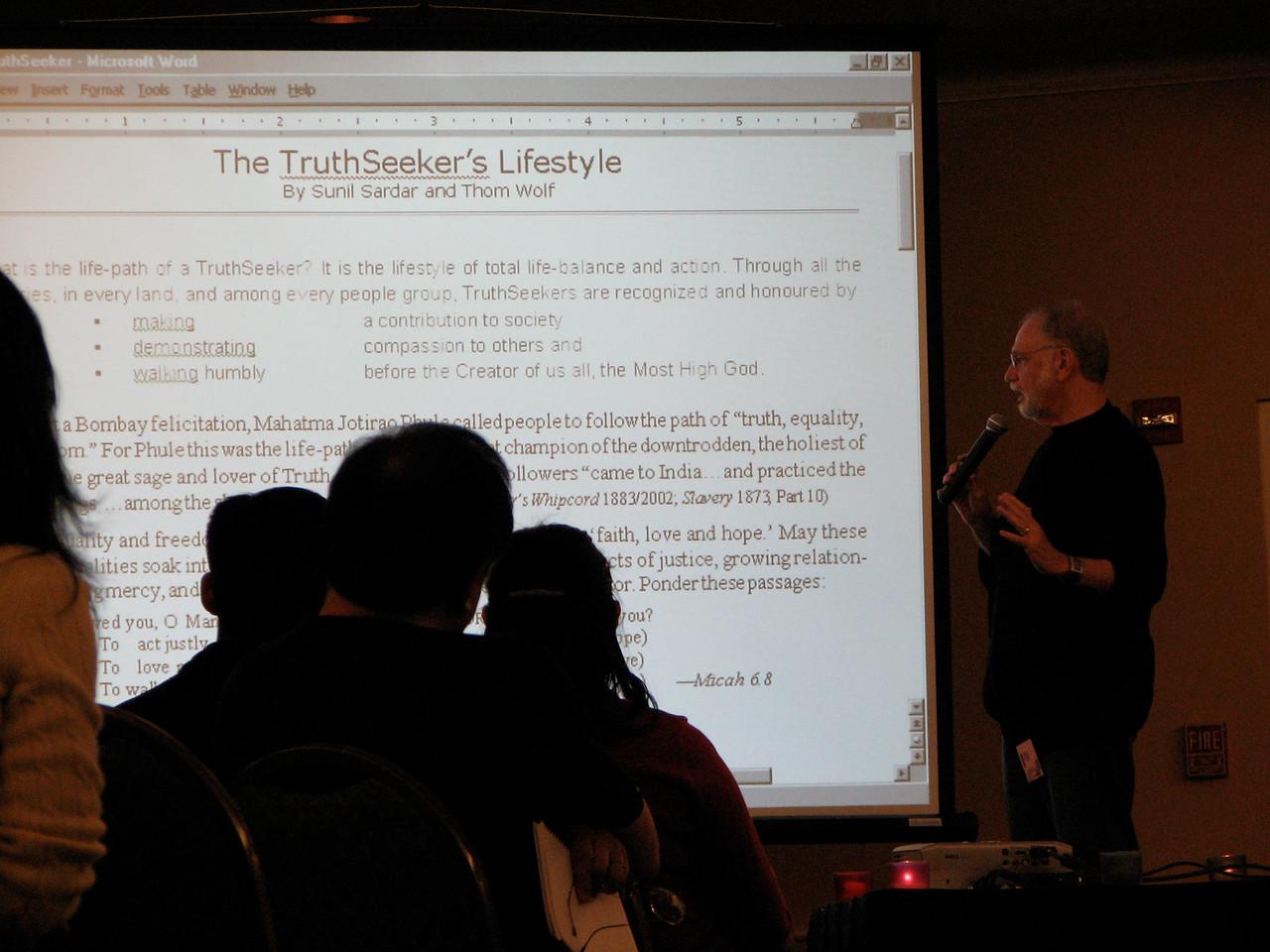 2007 02 17 Sat - Dr  Thom Wolf speaking 5
