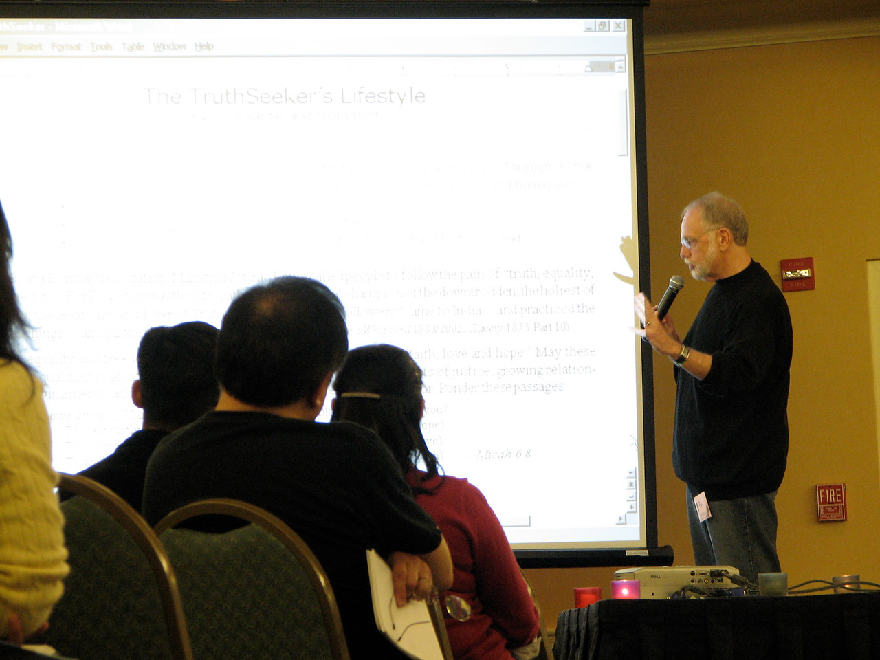 2007 02 17 Sat - Dr  Thom Wolf speaking 4