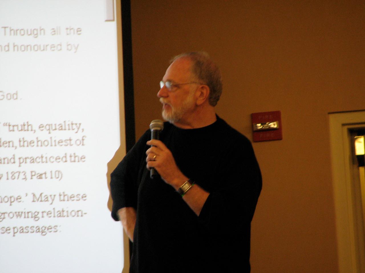 2007 02 17 Sat - Dr  Thom Wolf speaking 2