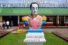 Venezuela - Caracas : estatua de Simon Bolivar en Caracas . Paisaje urbano. / Simon Boliva statue in caracas. Urban landscape. / Statue von Simon Bolivar in Caracas. © Sebastian Hacher/LATINPHOTO.org