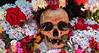 """Bolivia : Dia de las natitas (calaveras humanas objeto de veneracion) 8 de noviembre en el cementerio general de La Paz . Cada ano, aumentan los adeptos de esas calaveras guardianas, que vigilan y ayudan los hogares de las capas de poblaciones mas demunidas del occidente boliviano. Esas calaveras, generalmente """"adoptadas"""" y encontradas, son, segun sus duenos, milagrosas y temibles. / Day of the Skulls is a festival celebrated in La Paz, Bolivia on November 9th. (human skulls object of veneration) Religion and Mythology. Bolivia's bizarre skull festival in La Paz falls on 9th November, and closes the week-long All Saints celebrations. / Bolivien: Das Schädelfest Fiesta de las natitas ist ein religöser Brauch. Gläubigen bringen die Totenschädel ihrer Verwandten und Freunde zum Zentralfriedhof in La Paz. Dort werden sie an der Fassade der Friedhofskirche aufgebahrt. Durch die Segnung der Totenköpfe werden die Verstorbenen das folgende Jahr die Gläubigen beschützen und ihnen Glück bringen. © Alejandro Azcuy/LATINPHOTO.org"""