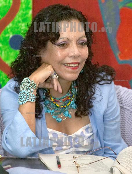 Nicaragua : Rosario Murillo . / Nikaragua: Ortegas Ehefrau Rosario Murillo. © Inti Ocon/LATINPHOTO.org