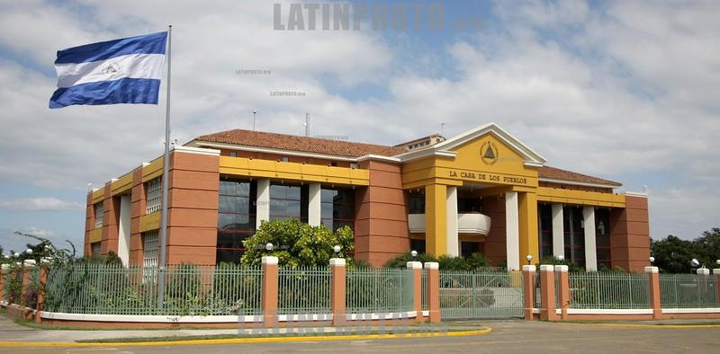 Nicaragua : Casa de los Pueblos . / public house. / Nikaragua: Volkshaus in Managua. © Inti Ocon/LATINPHOTO.org