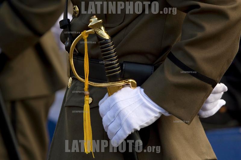 Nicaragua : Ejercito de Nicaragua en su Aniversario . / soldiers. / Nikaragua: Soldat während einer Parade. Armee. © Inti Ocon/LATINPHOTO.org