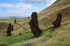Chile : Moais en isla de pascua . / Moais at eastern island. / Die Osterinsel (rapanui Rapa Nui) ist eine isoliert gelegene Insel im Südostpazifik. Moais Steinstatuen. © Nicolas Nadjar/LATINPHOTO.org